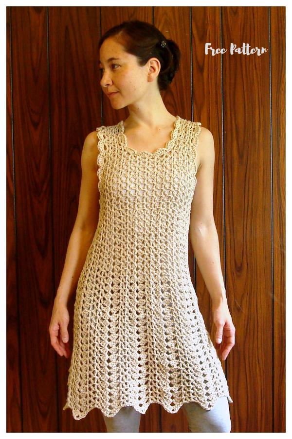 Pop-Over Summer Dress Free Crochet Patterns
