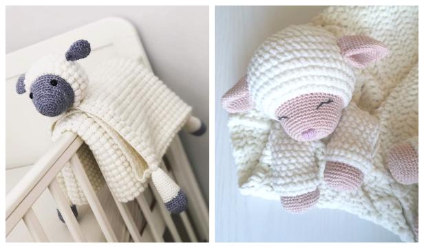 Lamb blanket Free Crochet Pattern & Paid