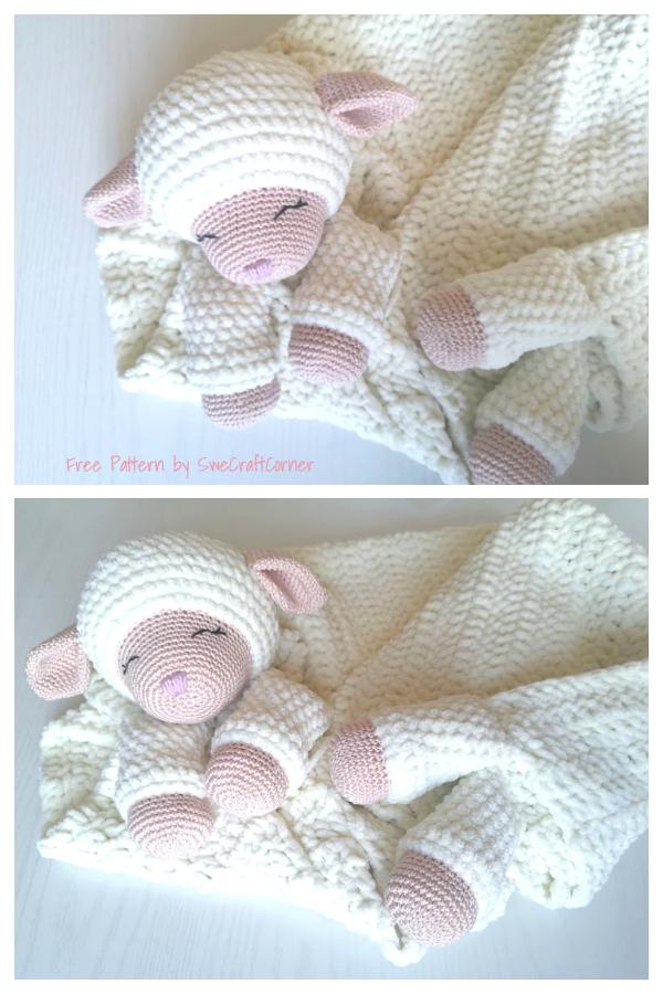 Little Mary Lamb blanket Free Crochet Pattern
