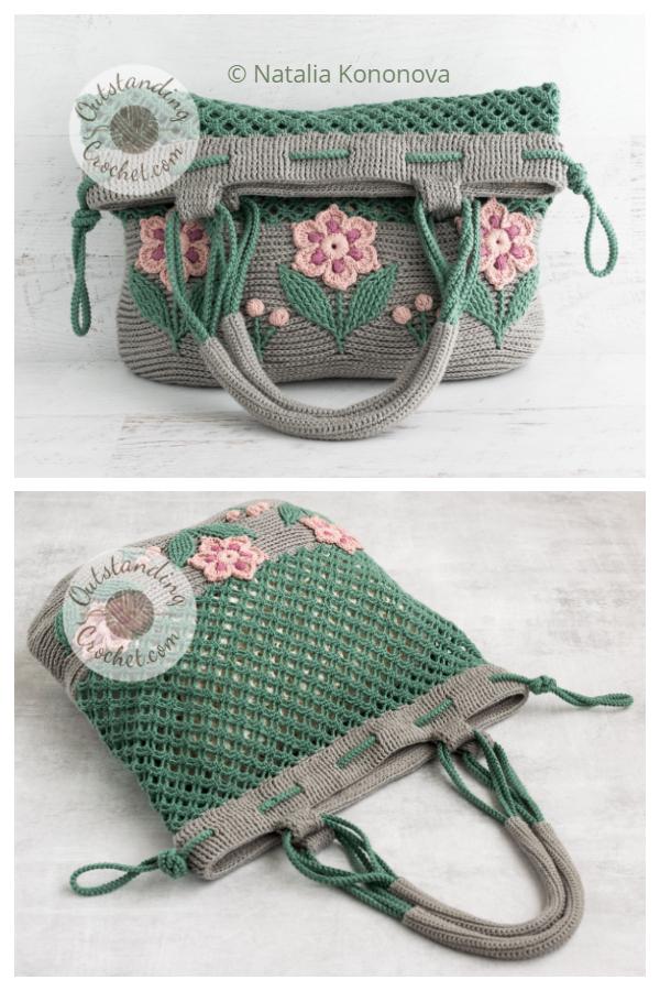 Windflower Bag Crochet Patterns