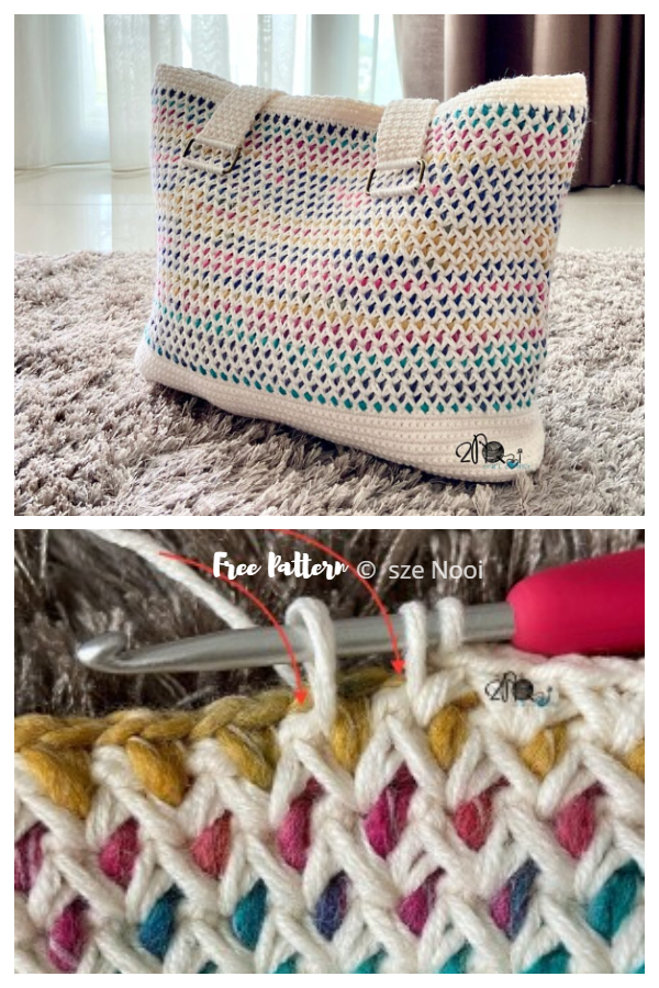 Cotton Candy Tote Bag Free Crochet Patterns