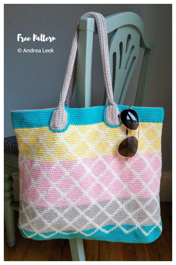 Neapolitan Beach Bag Free Crochet Patterns