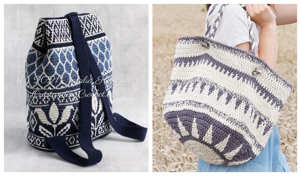 Mochila Tapestry Bag Free Crochet Patterns & Paid