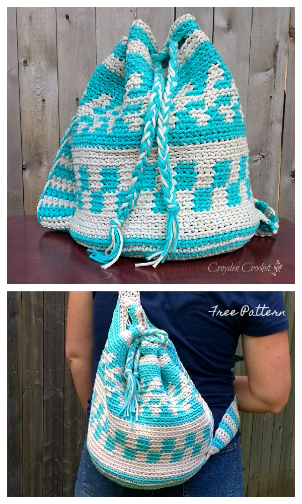 Mochila Tapestry Sling Bag Free Crochet Patterns