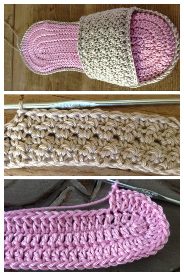 Spa Slippers Free Crochet Patterns