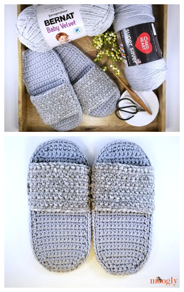Simple Spa Slippers Free Crochet Patterns