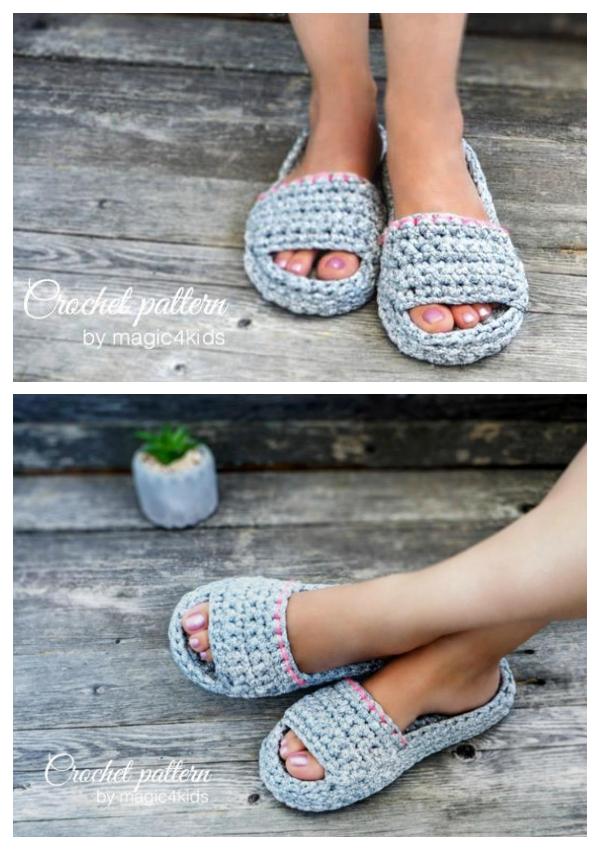 Spa Slippers Crochet Patterns