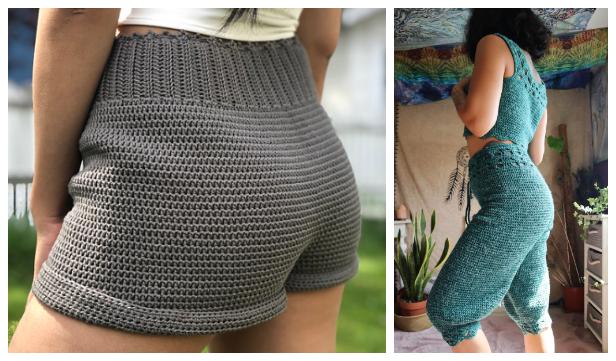 Women Summer Shorts Free Crochet Patterns & Paid