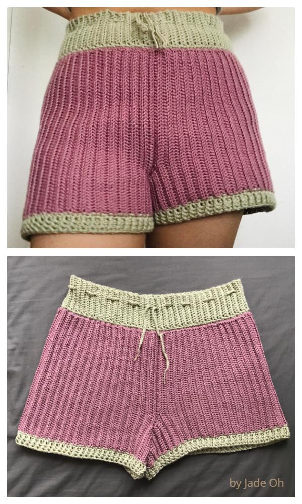 Women Summer Sideways Shorts Free Crochet Patterns