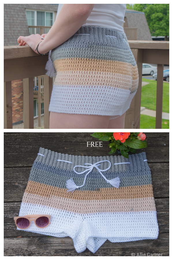 Quick Women The Beachside Shorts Free Crochet Patterns