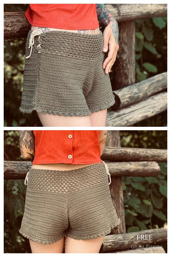 Women Summer Breeze Shorts Free Crochet Patterns