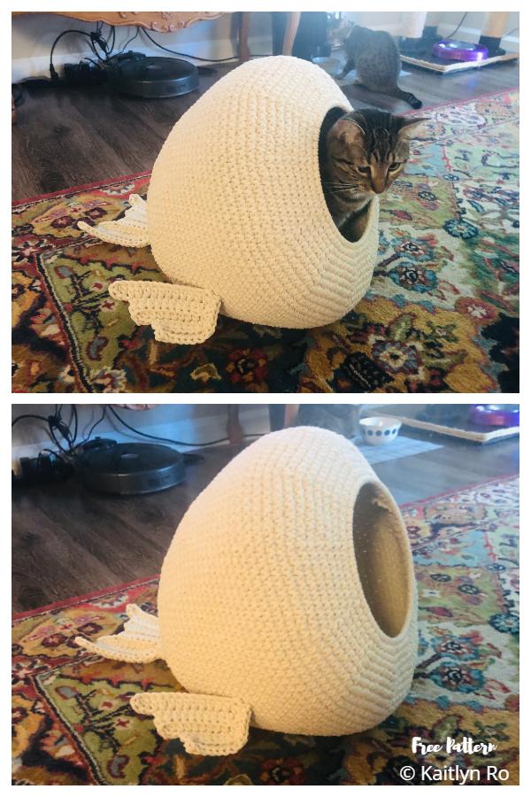 3D CatFish House Free Crochet Patterns