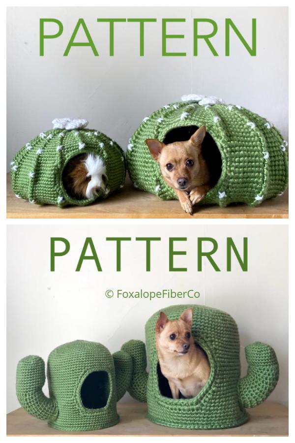 3D Cactus pet Cave Crochet Patterns