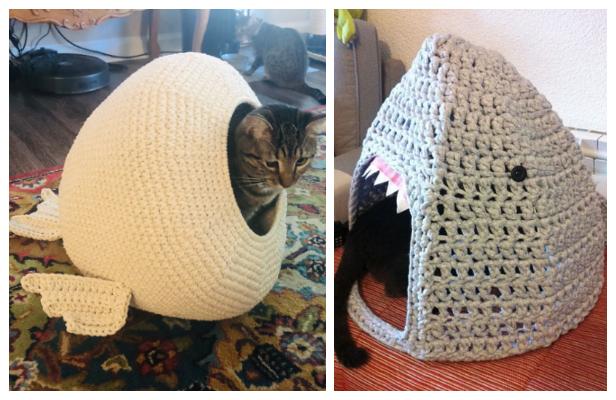 3D Cat House Free Crochet Patterns