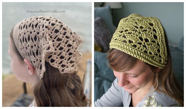Bandana Kerchief Free Crochet Patterns