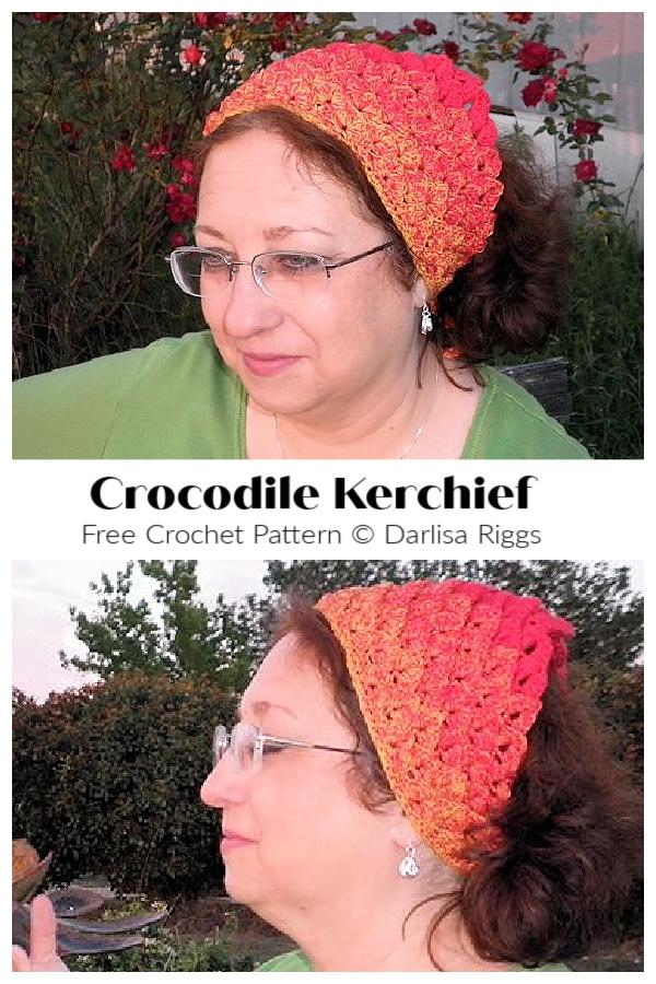 Crocodile Kerchief Free Crochet Patterns