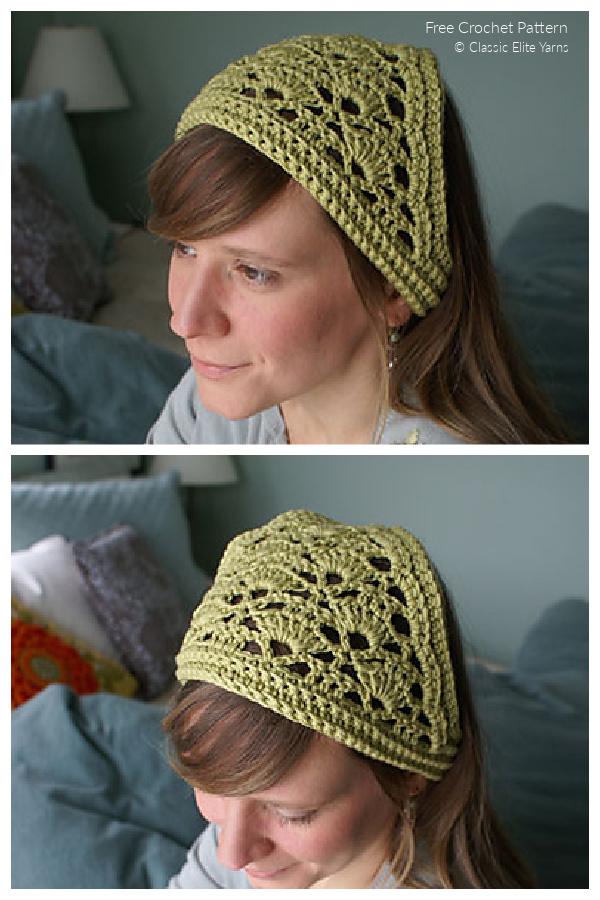 Lacy Crochet Kerchief Free Crochet Patterns