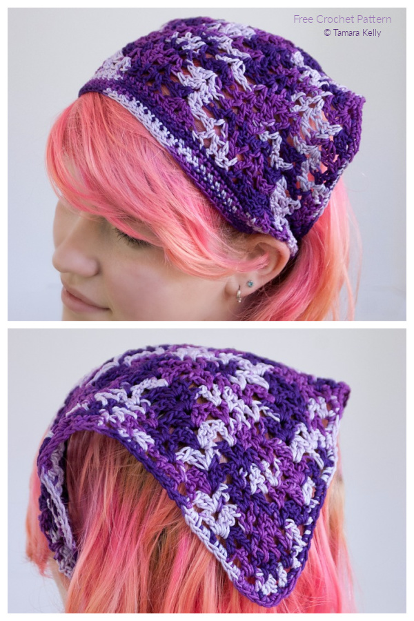 Bandana Marietta Kerchief Free Crochet Patterns