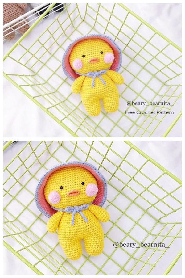 Crochet Yellow Duck Amigurumi Free Patterns