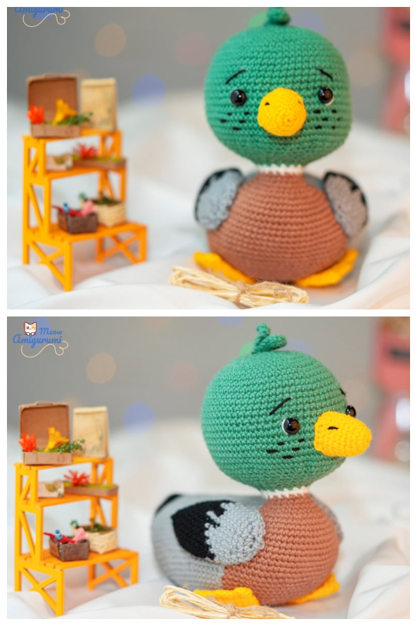 Crochet Miles the Mallard Duck Amigurumi Free Patterns