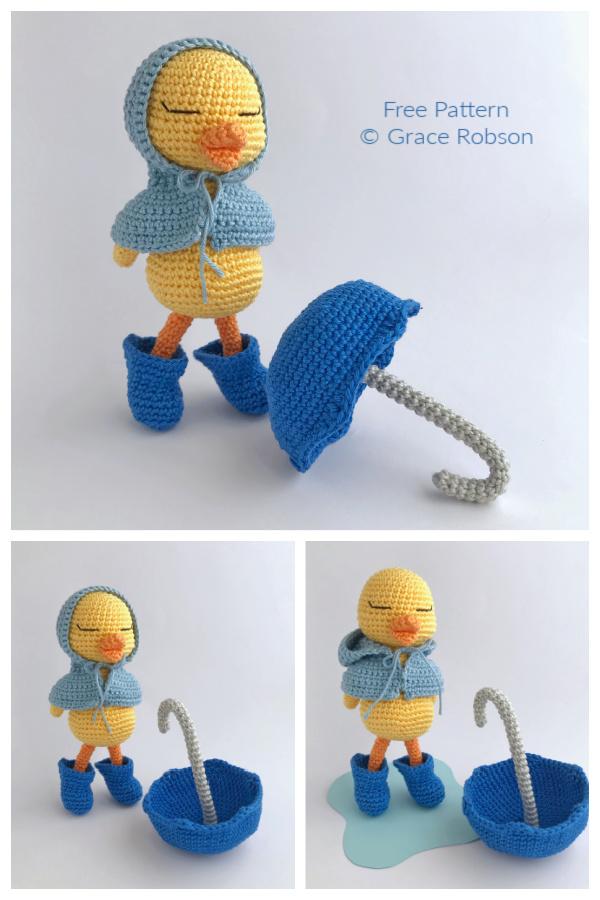 Crochet Puddles the Duck Amigurumi Free Patterns
