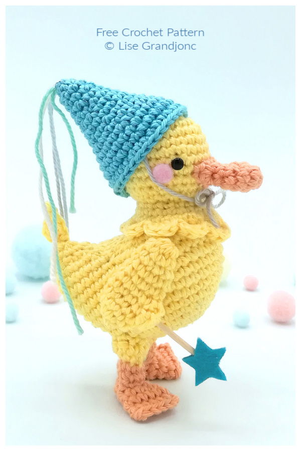 Crochet Leo the Duckling Amigurumi Free Patterns