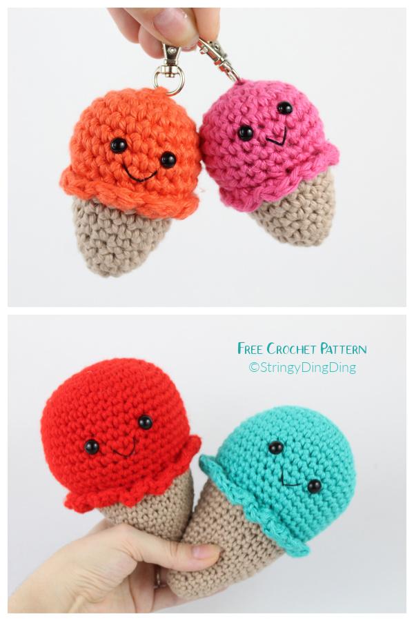Crochet Ice Cream Amigurumi Free Patterns