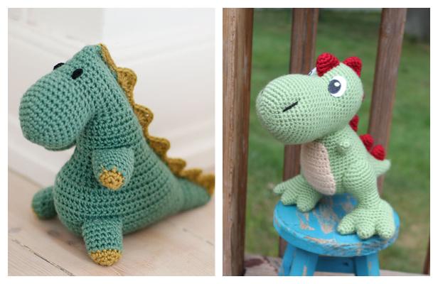 Crochet Squish Dinosaur Amigurumi Free Patterns