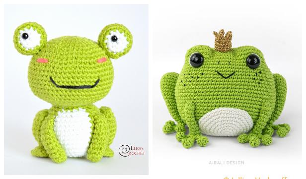 Crochet Toy Baby Frog Amigurumi Free Patterns