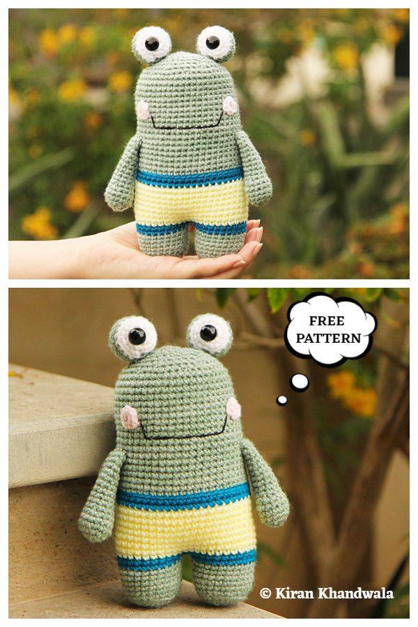 Crochet Flippy the Frog Amigurumi Free Patterns