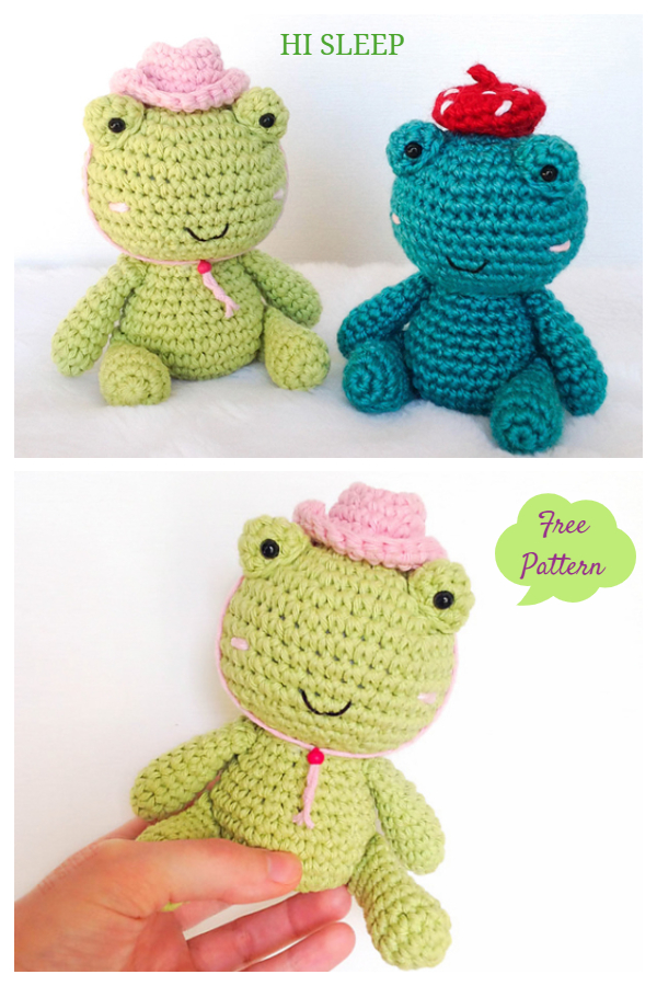 Crochet Toy Frog in a Hat Amigurumi Free Patterns