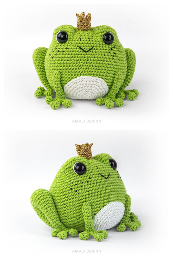 Crochet Prince Perry the Frog Amigurumi Patterns