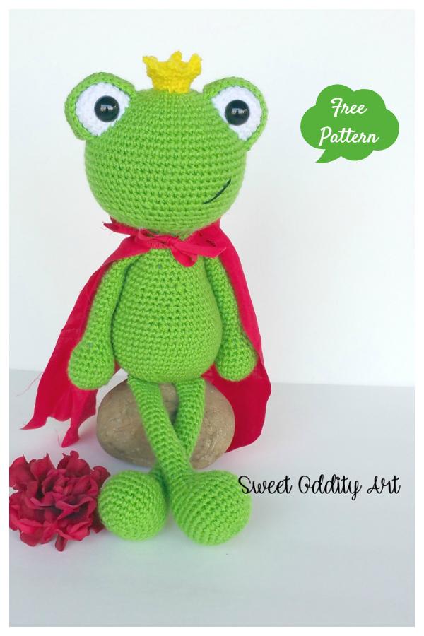 Crochet Toy Frog Prince Amigurumi Free Patterns