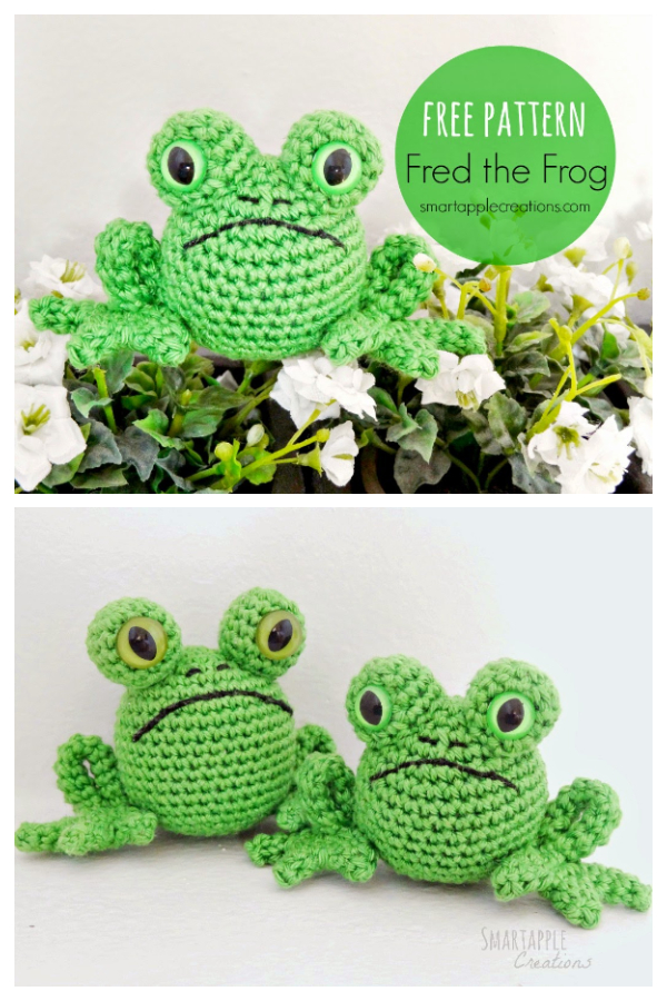 Crochet Toy Fred the Frog Amigurumi Free Patterns