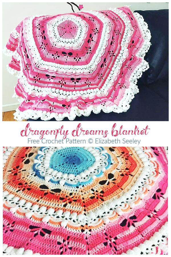 Dragonfly Dreams Blanket Free Crochet Patterns
