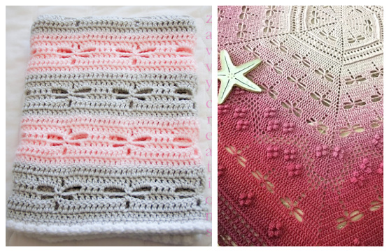 Square Dancing Dragonfly Blanket Free Crochet Patterns
