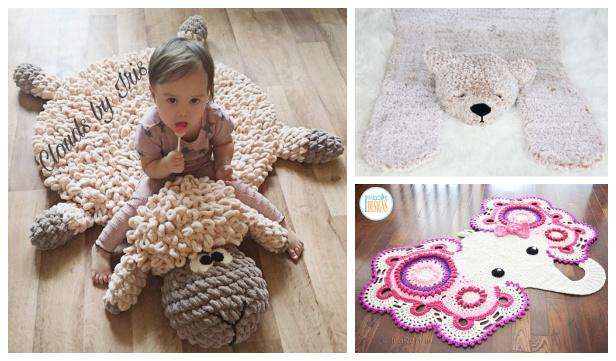 Fun Animal Rugs Crochet Patterns for Kids