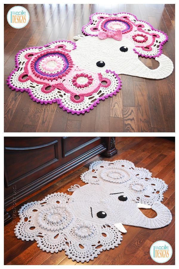 Elephant Rug Crochet Patterns for Kids