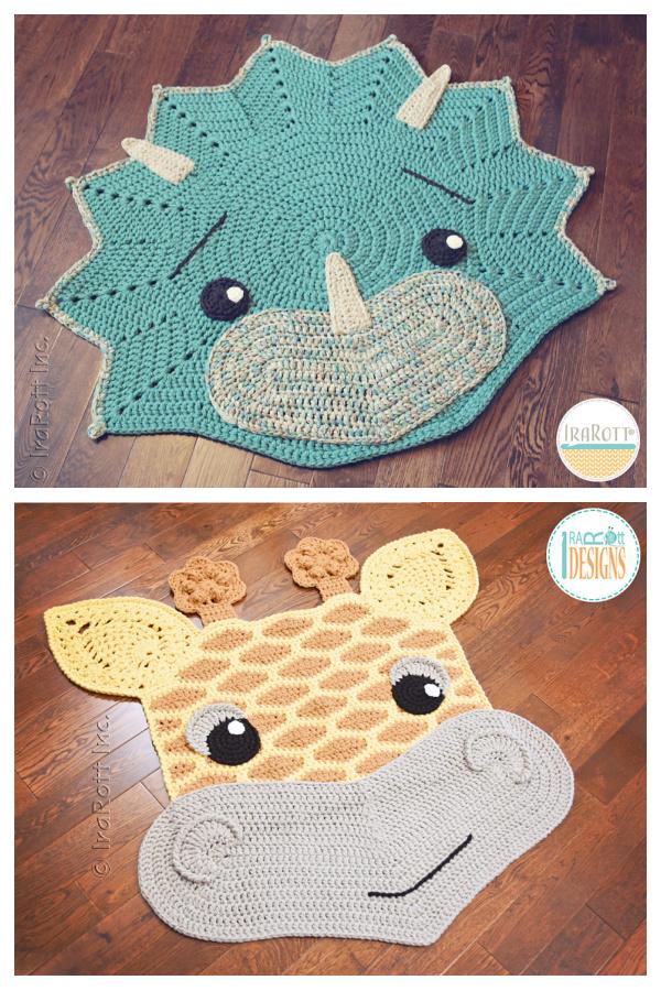 Over 20+ Crochet Animal Rugs Crochet Patterns for Kids