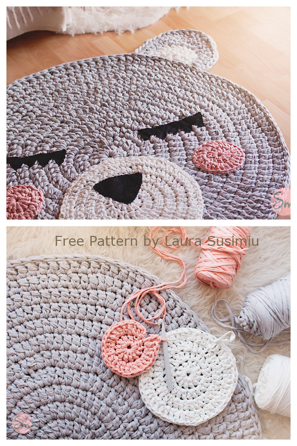 Fun Teo Bear Rugs Free Crochet Patterns for Kids
