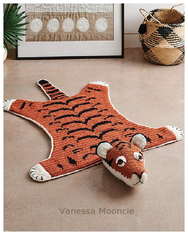 Fun Animal Tiger Rugs Crochet Patterns for Kids