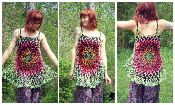Mandala Top Free Crochet Patterns