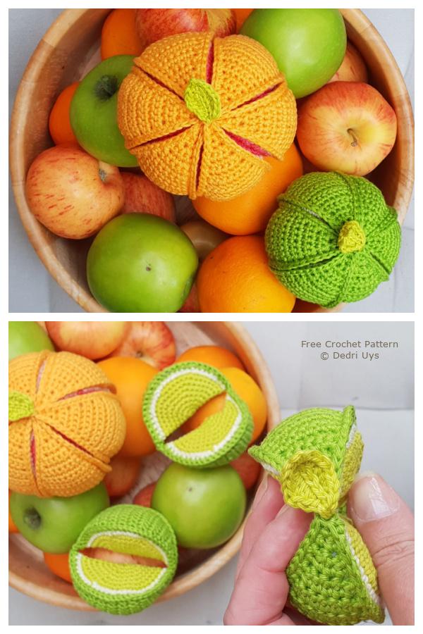 Fruity Segment Ball Soft Toy Ball Free Crochet Patterns