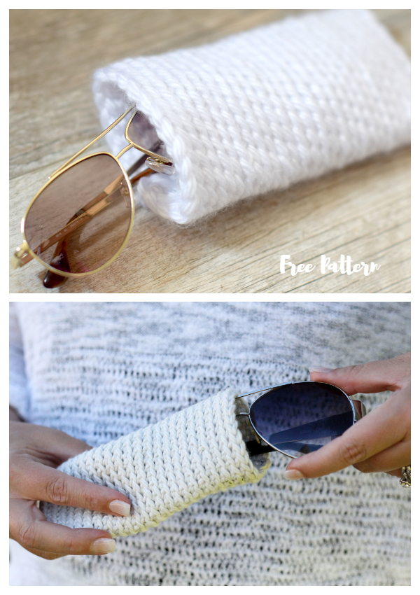 Knit Look Sunglasses Cases Free Crochet Patterns