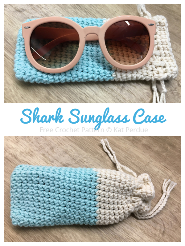Drawstring Sunglasses Cases Free Crochet Patterns