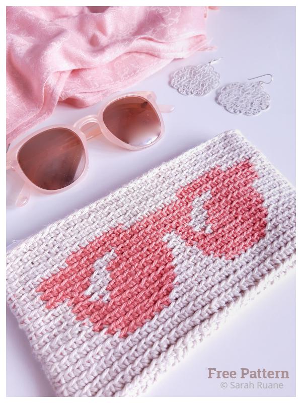 Tapestry Sunglasses Case Free Crochet Patterns