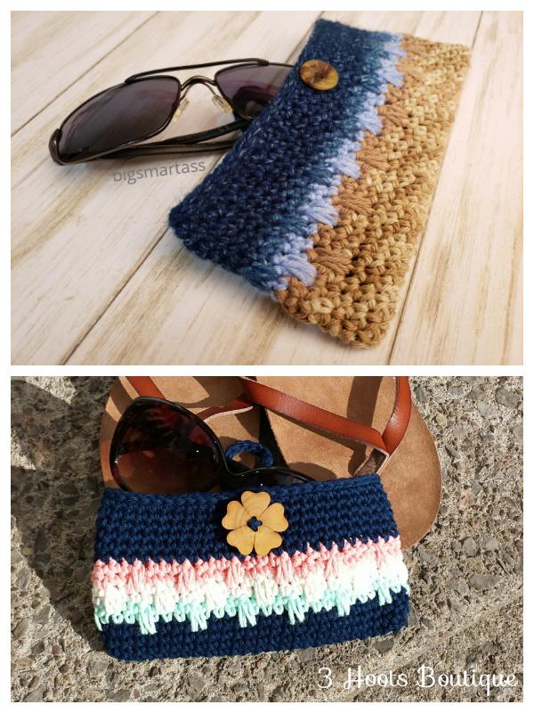Spiked Glasses Case Crochet Patterns