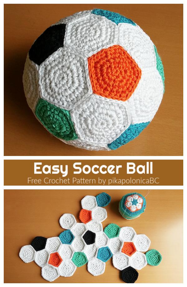 Easy Soccer Ball Free Crochet Pattern