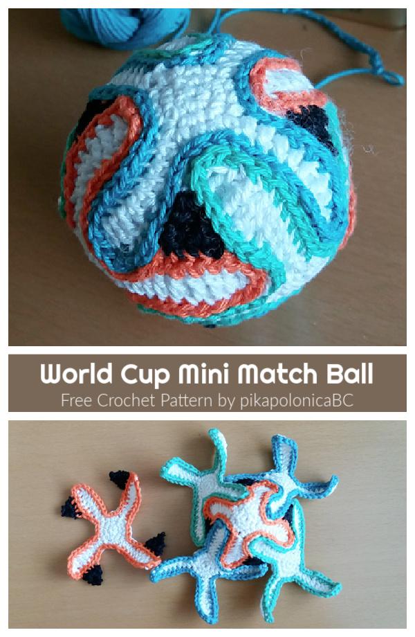 World Cup Mini Match Ball Free Crochet Pattern