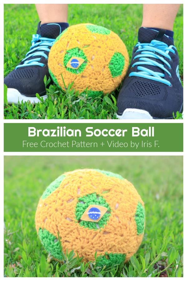 Soccer Ball Free Crochet Pattern + Video